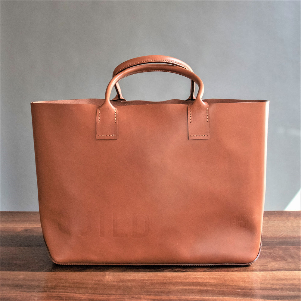 RW Guild Tan Leather Tote Bag
