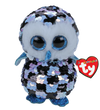TY Topper the Checkered Owl Medium Flippable