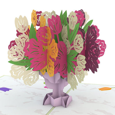 Tulip Bouquet 3D card