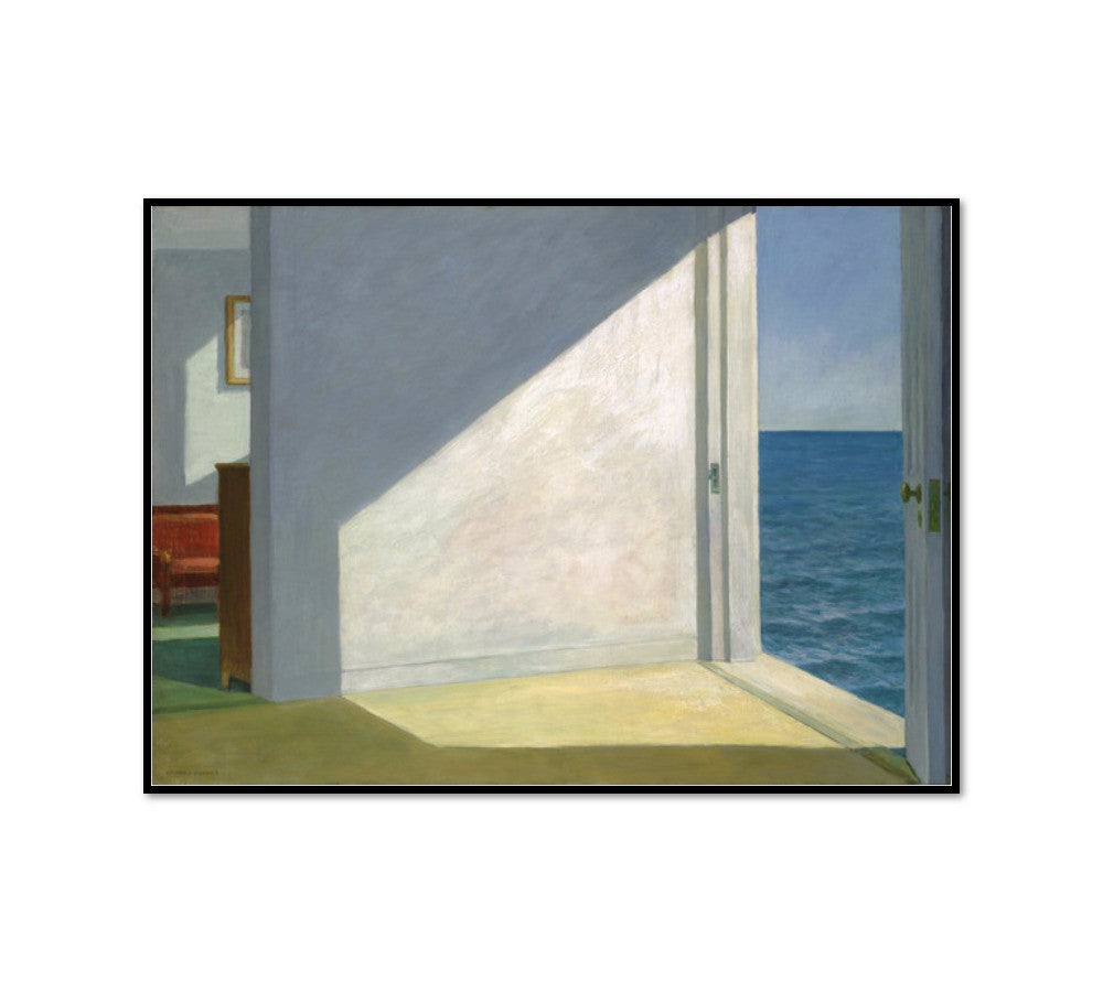Rooms by the Sea by Edward Hopper, Framed Art Print with black frame in 3 sizes by 2020ArtSolutions