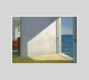 Rooms by the Sea by Edward Hopper, Framed Art Print with white frame in 3 sizes by 2020ArtSolutions