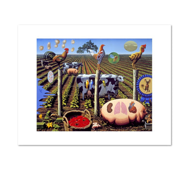 Alexis Rockman, The Farm, 2000, Fine Art Print in 4 sizes by 2020ArtSolutions