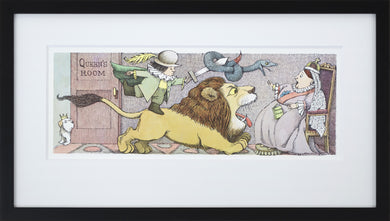Queen's Room by Maurice Sendak Vintage Print Framed in Black - Special Edition, by 2020ArtSolutions