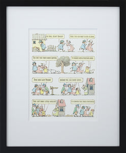 Go Tell Aunt Rhody by Maurice Sendak Vintage Print Framed in Black - Special Edition, by 2020ArtSolutions