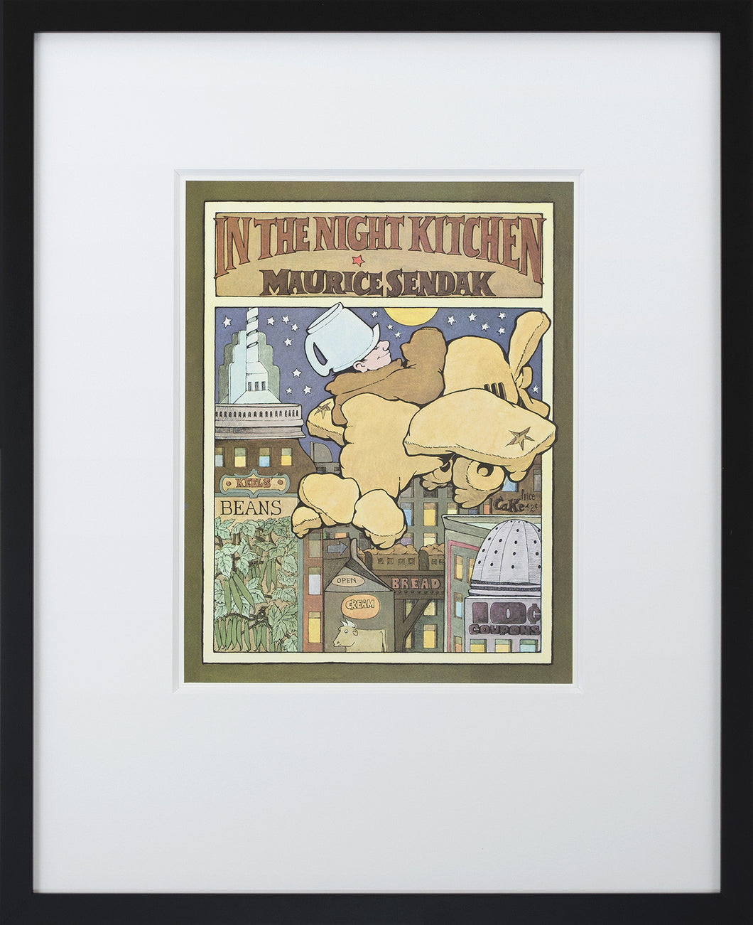 In The Night Kitchen (book Cover) By Maurice Sendak Framed Art Print    Special