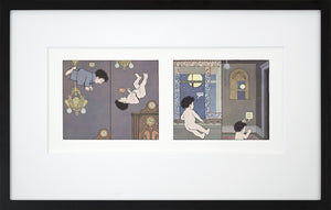 Tumbling into the Night by Maurice Sendak Vintage Print Framed in Black - Special Edition, by 2020ArtSolutions