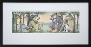 The Morning After by Maurice Sendak Vintage Print Framed in Black - Special Edition, by 2020ArtSolutions