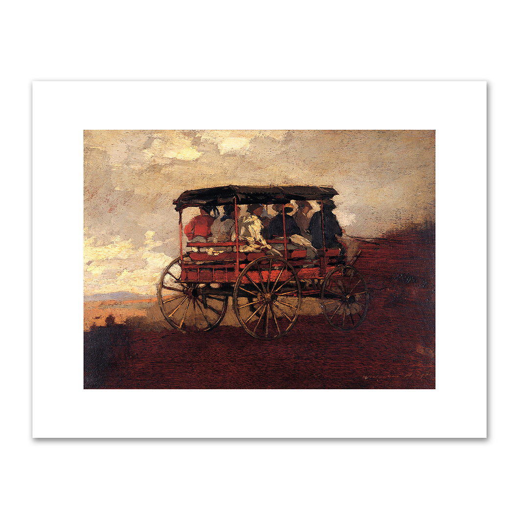 Winslow Homer, White Mountain Wagon, c. 1869, Fine Art Prints in 4 sizes by 2020ArtSolutions