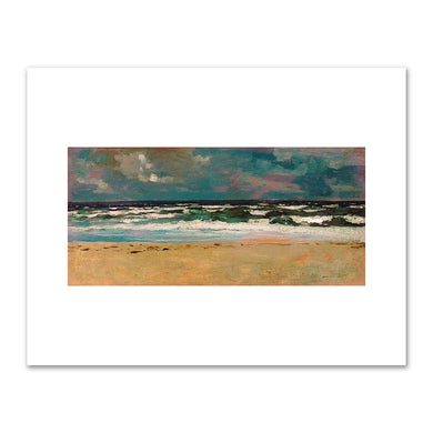 Winslow Homer, Sandy Beach with Breakers, ca. 1869, Fine Art Prints in 4 sizes by 2020ArtSolutions