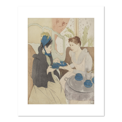 Mary Cassatt, Afternoon Tea Party, Fine Art Prints in various sizes by Museums.Co