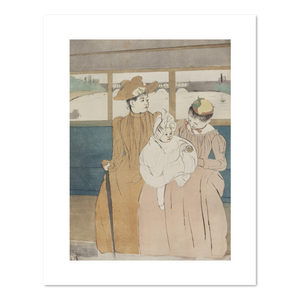 Mary Cassatt, In the Omnibus, 1890-1891, Fine Art Prints in 4 sizes by 2020ArtSolutions