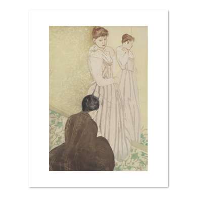 Mary Cassatt, The Fitting, 1890-1891, Fine Art Print in 4 sizes by 2020ArtSolutions