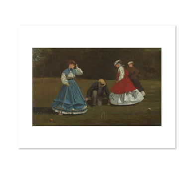 Croquet Scene by Winslow Homer