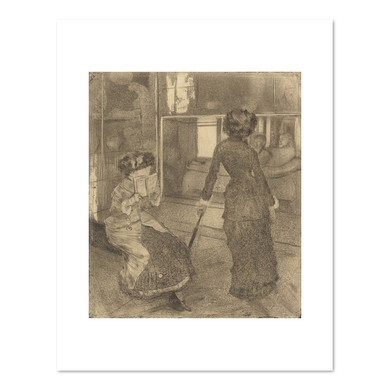 Edgar Degas, Mary Cassatt at the Louvre: The Etruscan Gallery, 1879/1880, Fine Art Print in various sizes by Museums.Co