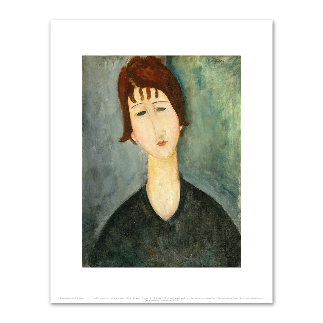 A Woman by Amedeo Modigliani