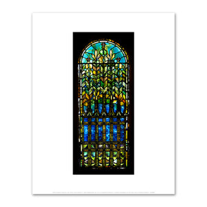 Tiffany Studios, Floral Window, c. 1890, Fine Art Print in 4 sizes by 2020ArtSolutions