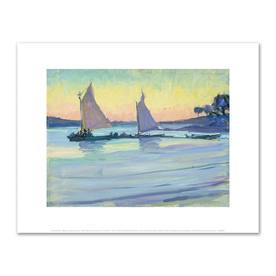Jane Peterson, Boats on the Nile, Dawn, 1905–1915, Art Prints in 4 sizes by 2020ArtSolutions