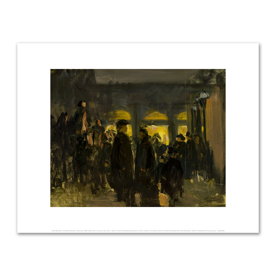 Jane Peterson, Venetian Revelers: Evening, 1900–1933, Art Prints in 4 sizes by 2020ArtSolutions