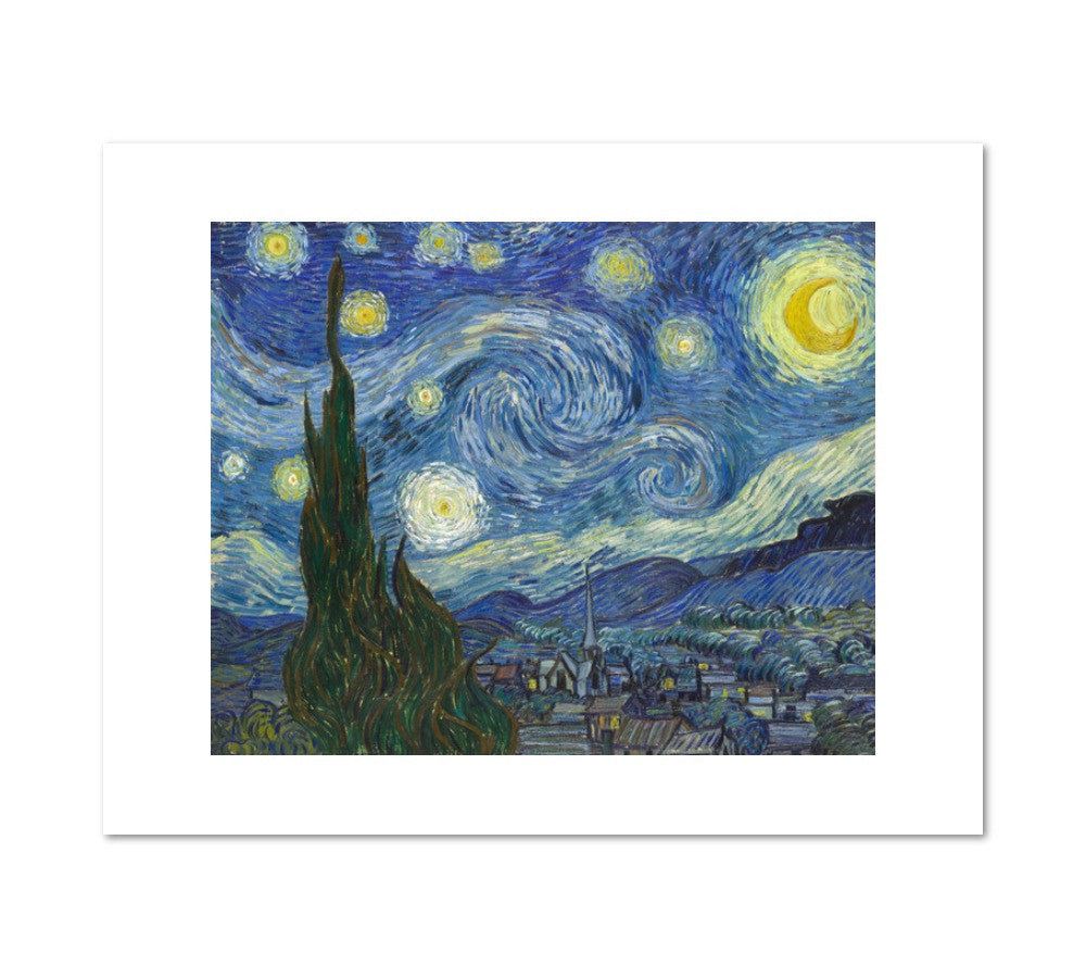 The Starry Night by Vincent van Gogh Archival Print