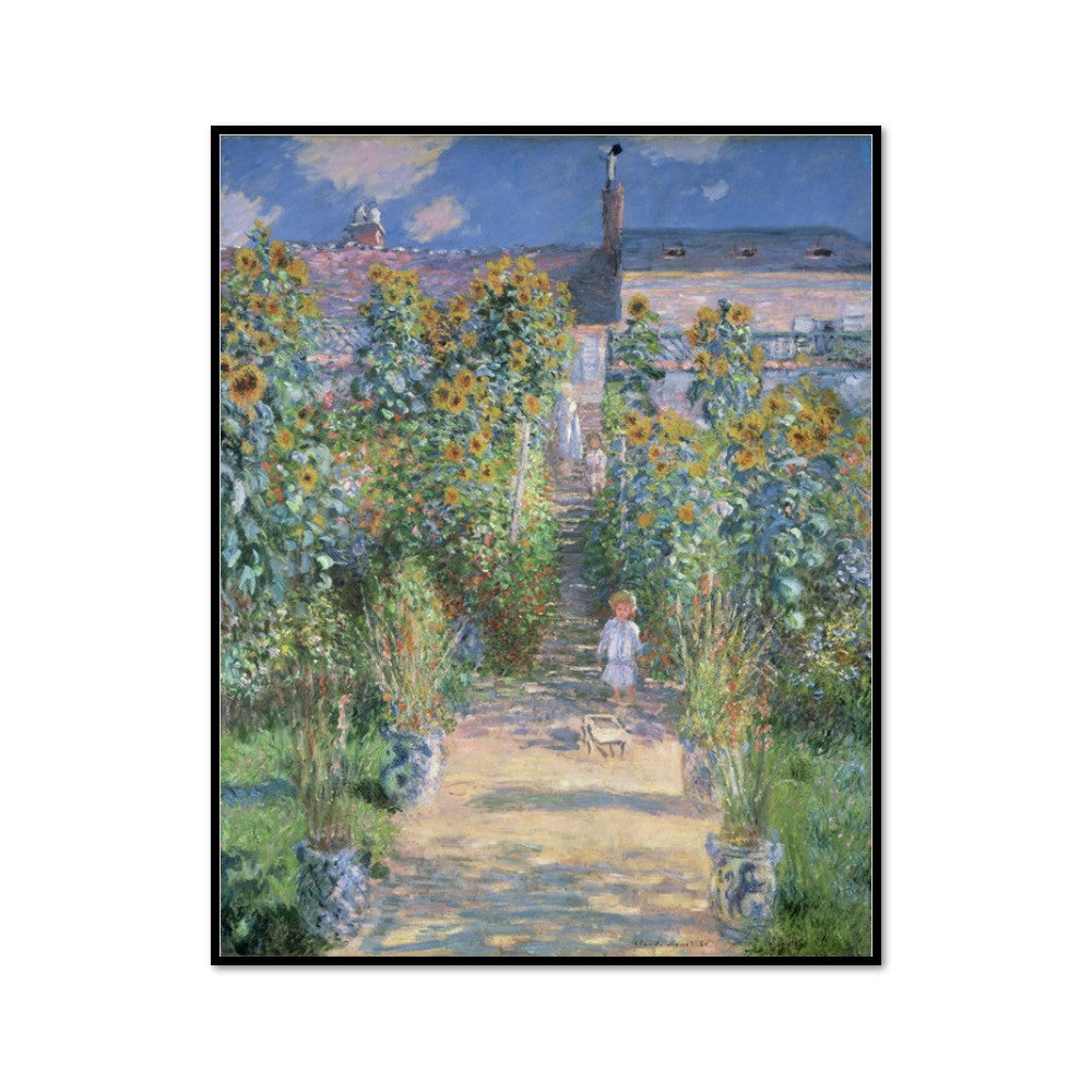 The Artist's Garden at Vétheuil by Claude Monet Artblock