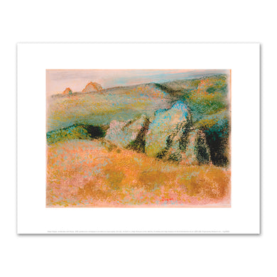 Edgar Degas, Landscape with Rocks, 1892, Fine Art Print in various sizes by Museums.Co
