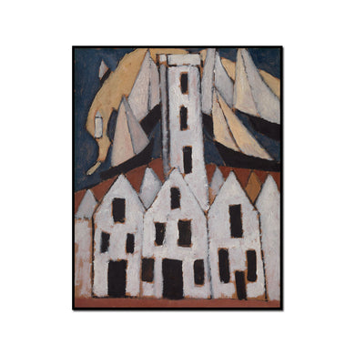 Marsden Hartley, Movement No. 5, Provincetown Houses, 1916, Artblock with black frame, 3 sizes by 2020ArtSolutions