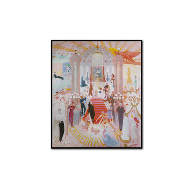 Florine Stettheimer, The Cathedrals of Art, artblock in 3 sizes and 2 frame colors by 2020ArtSolutions