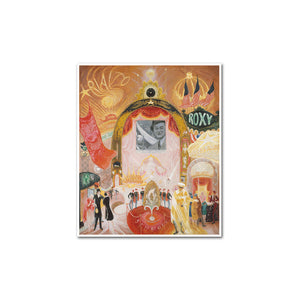 Florine Stettheimer, The Cathedrals of Broadway, artblock with white frame by 2020ArtSolutions