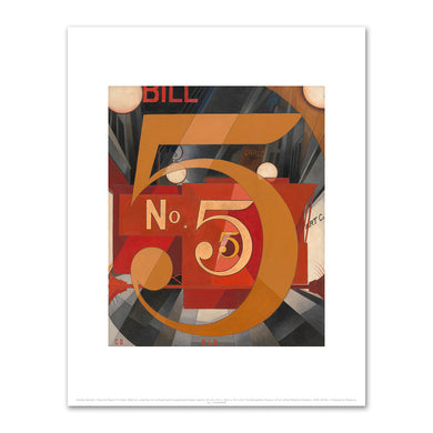 Charles Demuth, I Saw the Figure 5 in Gold, 1928, Art prints in various sizes by 2020ArtSolutions