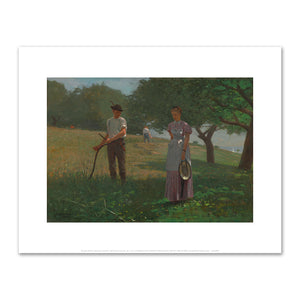 Winslow Homer, Waiting an Answer, 1872, Fine Art Prints in 4 sizes by 2020ArtSolutions