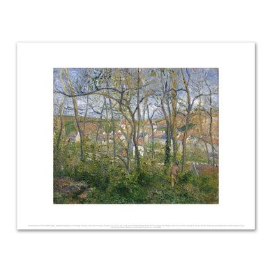 Camille Pissarro, Wooded Landscape at L'Hermitage, Pontoise, 1879, Fine Art Prints in 4 sizes by 2020ArtSolutions