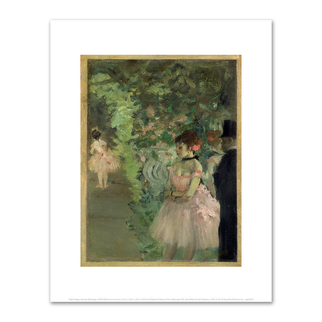 Edgar Degas, Dancers Backstage, 1876/1883, Fine Art Prints in 4 sizes by 2020ArtSolutions