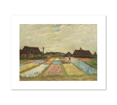 Flower Beds in Holland by Vincent van Gogh Archival Print