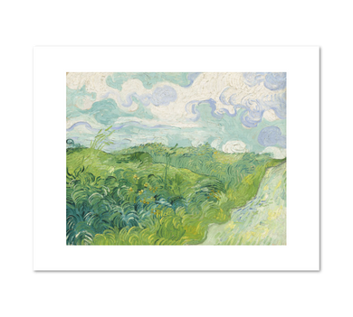 Green Wheat Fields, Auvers by Vincent van Gogh Archival Print