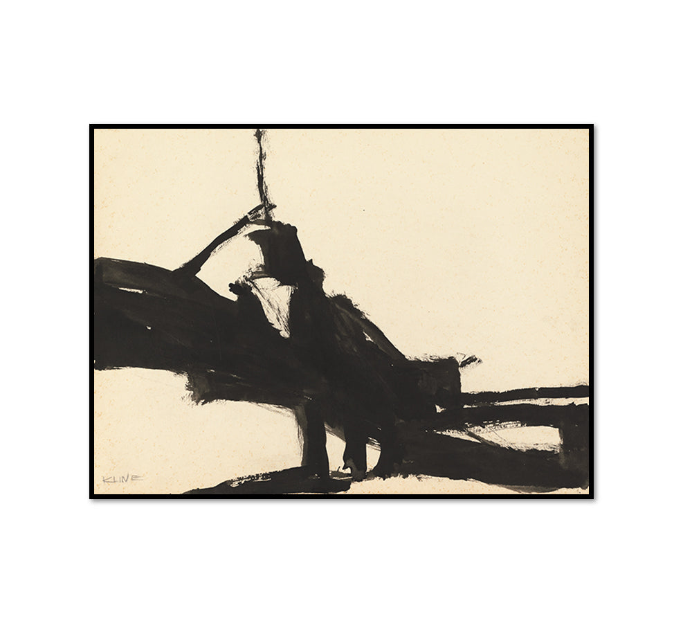 Franz Kline, Untitled, 1955, Framed Art Print with black frame in 3 sizes by 2020ArtSolutions