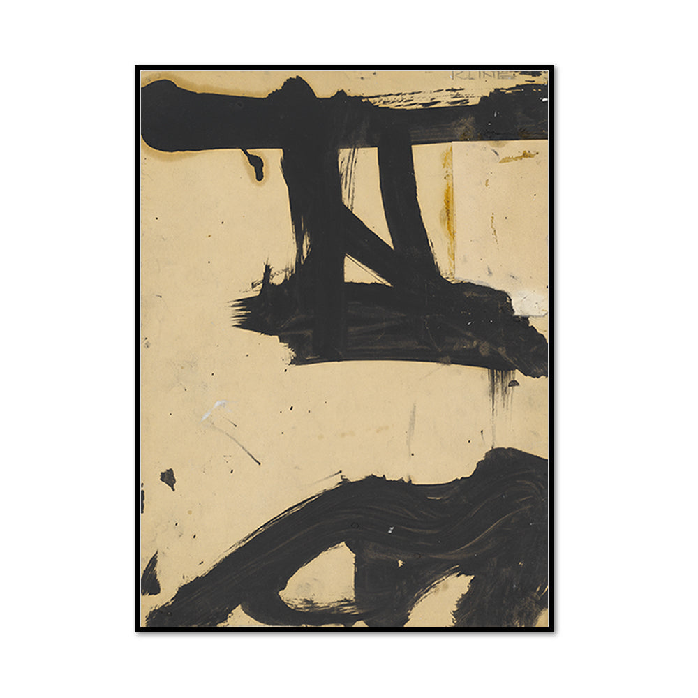 Franz Kline, Untitled, c. 1955, Framed Art Print with black frame in 3 sizes by 2020ArtSolutions