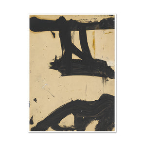 Franz Kline, Untitled, c. 1955, Framed Art Print with white frame in 3 sizes by 2020ArtSolutions