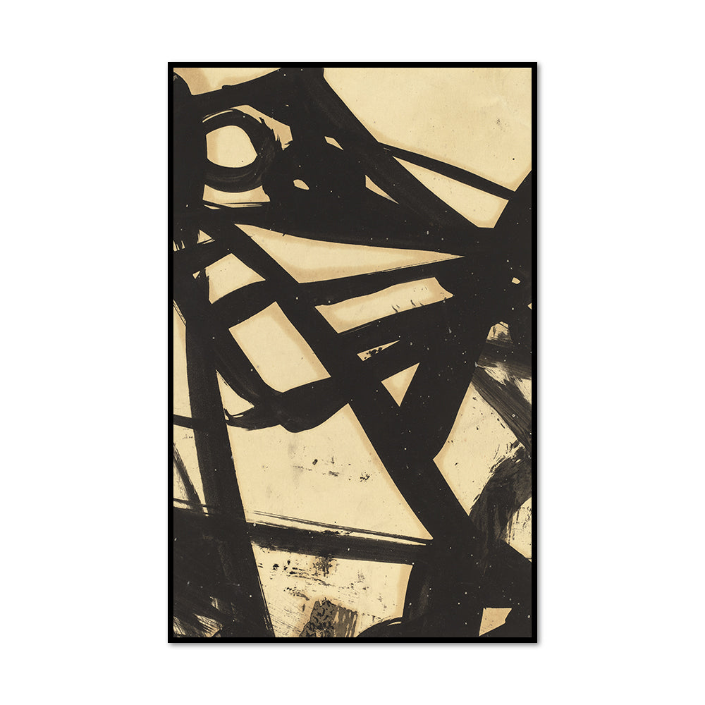 Franz Kline, Untitled, 1940s-1950s, Framed Art Print with black frame in 3 sizes by 2020ArtSolutions