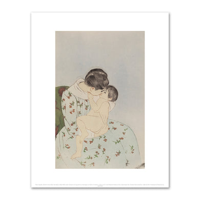 Mary Cassatt, Mother's Kiss (After the Bath), 1890-1891, Fine Art Print in 4 sizes by 2020ArtSolutions