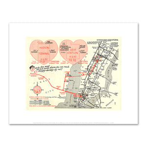 Amelia Opdyke Jones, Now's the Time to Take the Hudson Tube, ca. 1950s, Art Prints in 4 sizes by 2020ArtSolutions