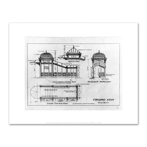 Heins & La Farge, Standard Entrance Kiosk, ca. 1904, Art Prints in 4 sizes by 2020ArtSolutions