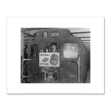 Roland Harvey, New York City Transit Authority, Football Special Train, ca. 1960, Art Prints in 4 sizes by 2020ArtSolutions