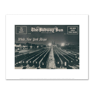 Amelia Opdyke Jones, New York City Transit Authority, The Subway Sun, While New York Sleeps, 1956, Art Prints in 4 sizes by 2020ArtSolutions