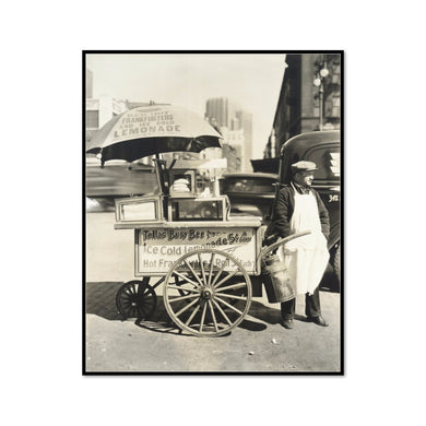 Hot Dog Stand, West St. and North Moore by Berenice Abbott Artblock