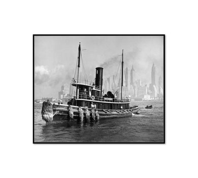 Watuppa, from water front, Brooklyn, Manhattan by Berenice Abbott Artblock