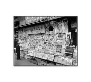 Newsstand, 32nd Street and Third Avenue, Manhattan by Berenice Abbott Artblock