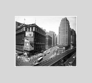 Herald Square, 34th and Broadway, Manhattan by Berenice Abbott Artblock