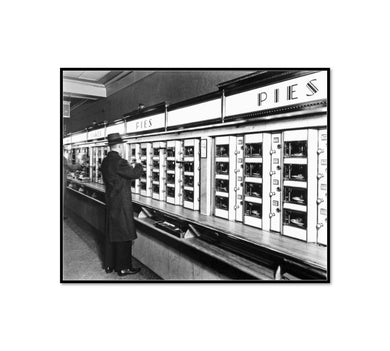 Berenice Abbott / Automat, 977 Eighth Avenue, Manhattan, Framed Art Print