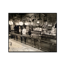 Berenice Abbott / Billie's Bar, 56th Street and First Avenue, Manhattan, Framed Art Print