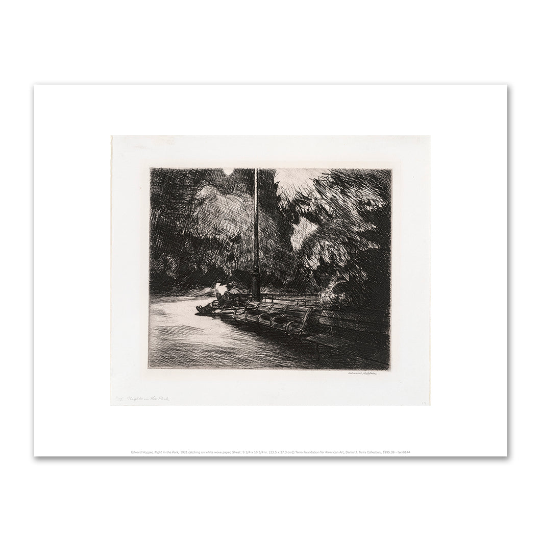 Edward Hopper, Night in the Park, 1921, Art Prints in 4 sizes by 2020ArtSolutions